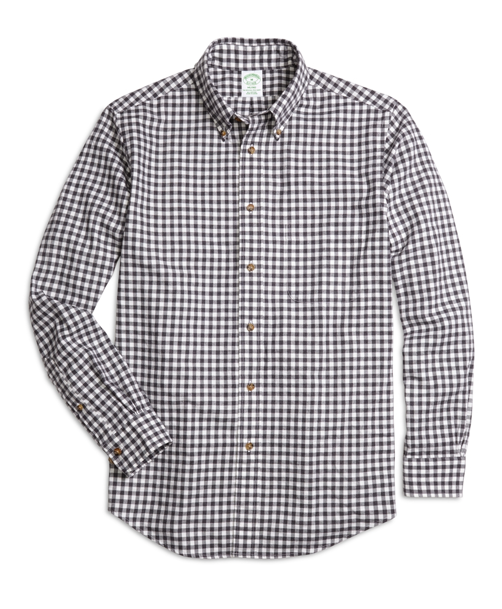 Brooks brothers milano fit flannel gingham sport shirt in for Brooks brothers sports shirts