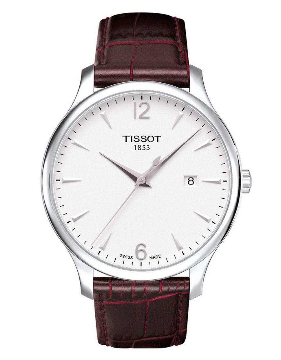 Tissot Mens Traditional Silver Quartz Classic Watch in ...