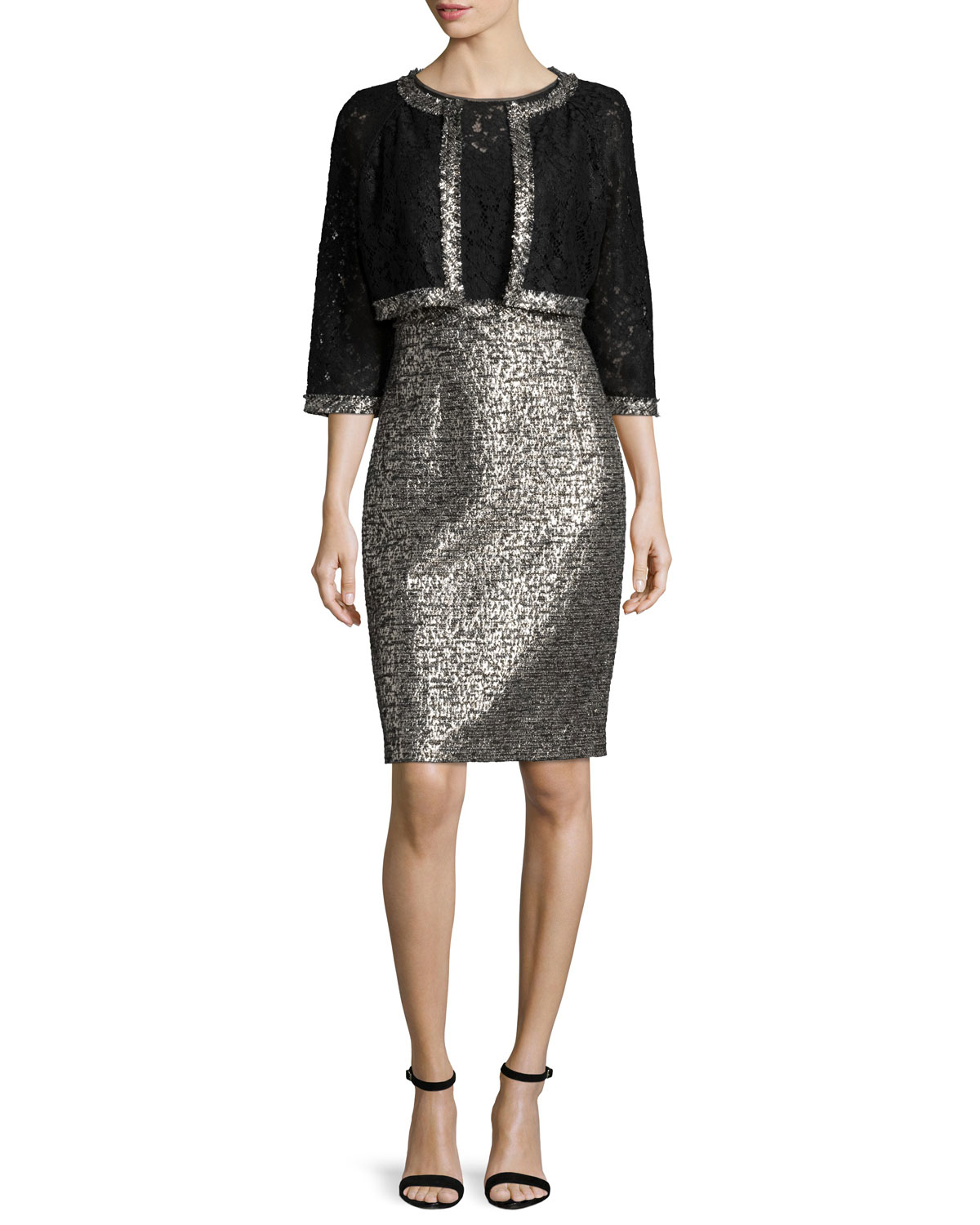 Kay Unger Jacket Amp Dress Two Piece Set In Black Lyst