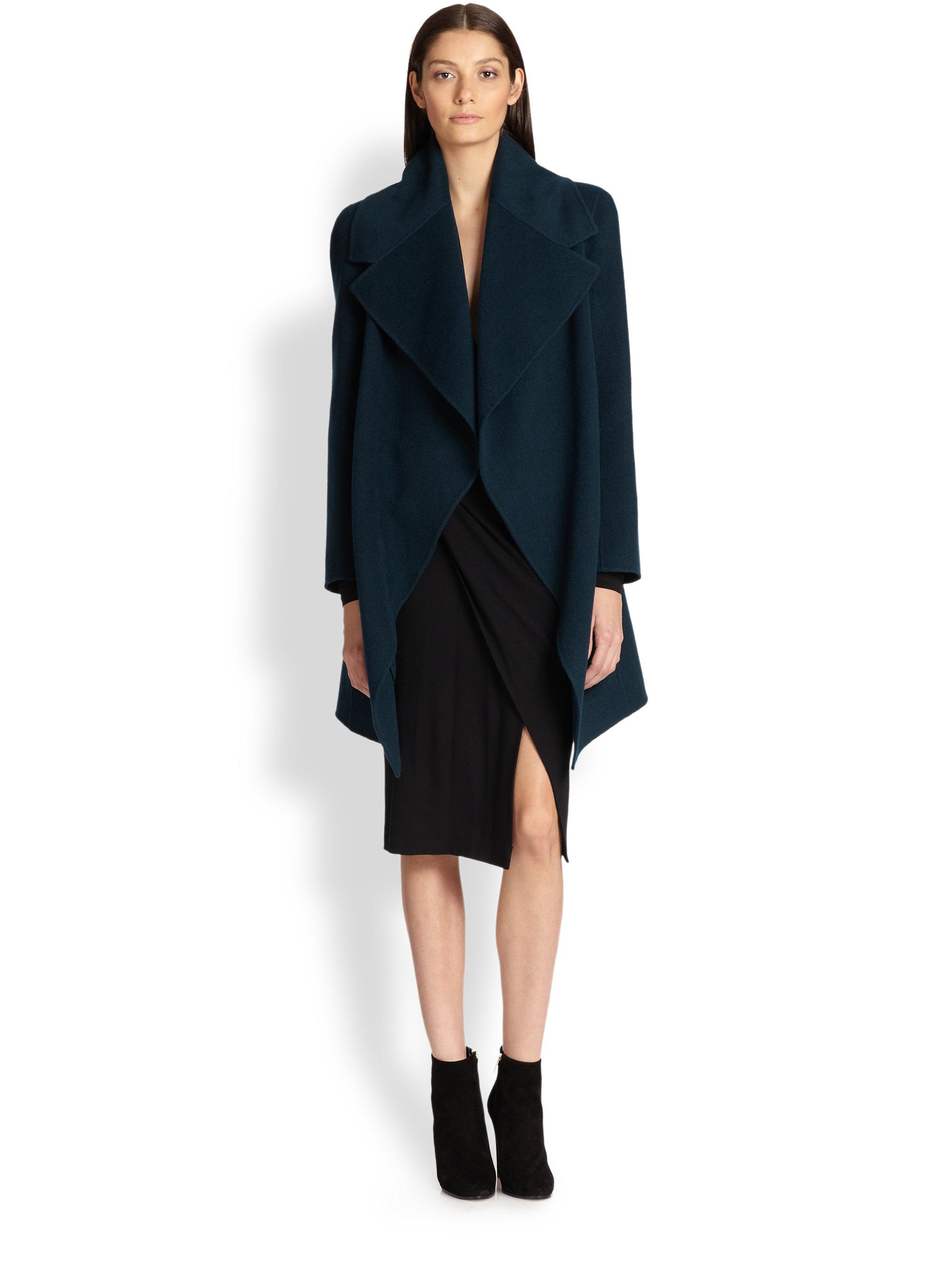 Black Cashmere Wrap Coat - Coat Nj