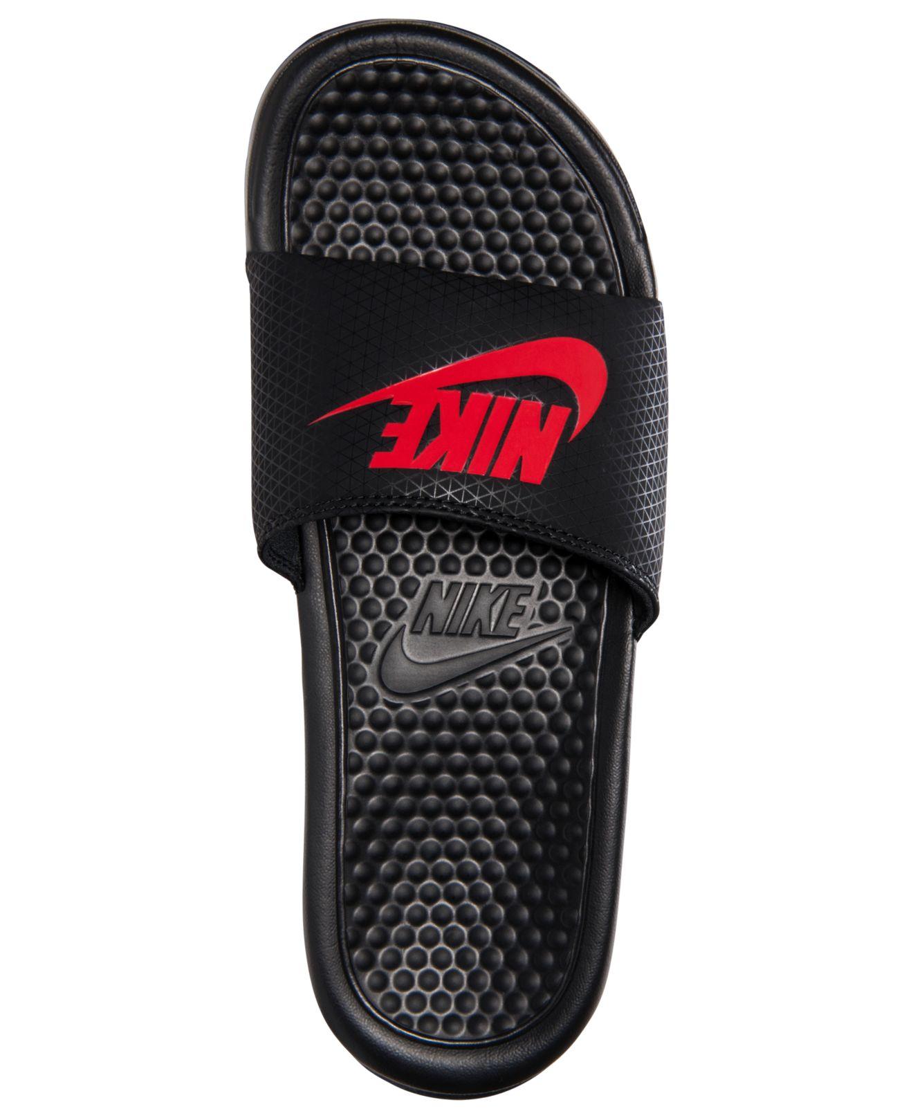 Lyst Nike Men S Benassi Jdi Slide Sandals From Finish