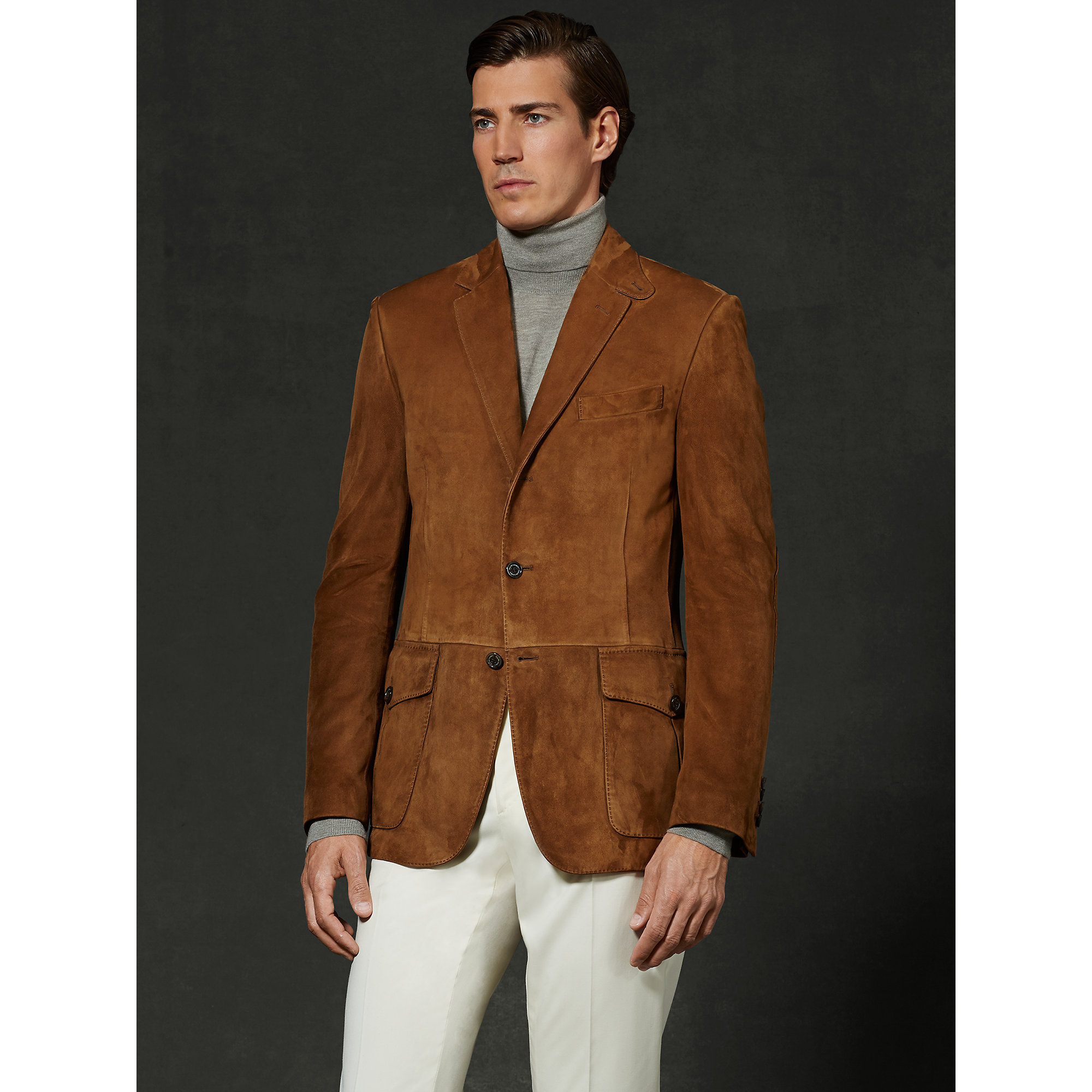 Ralph lauren purple label Suede Suffolk Sport Coat in Brown for ...