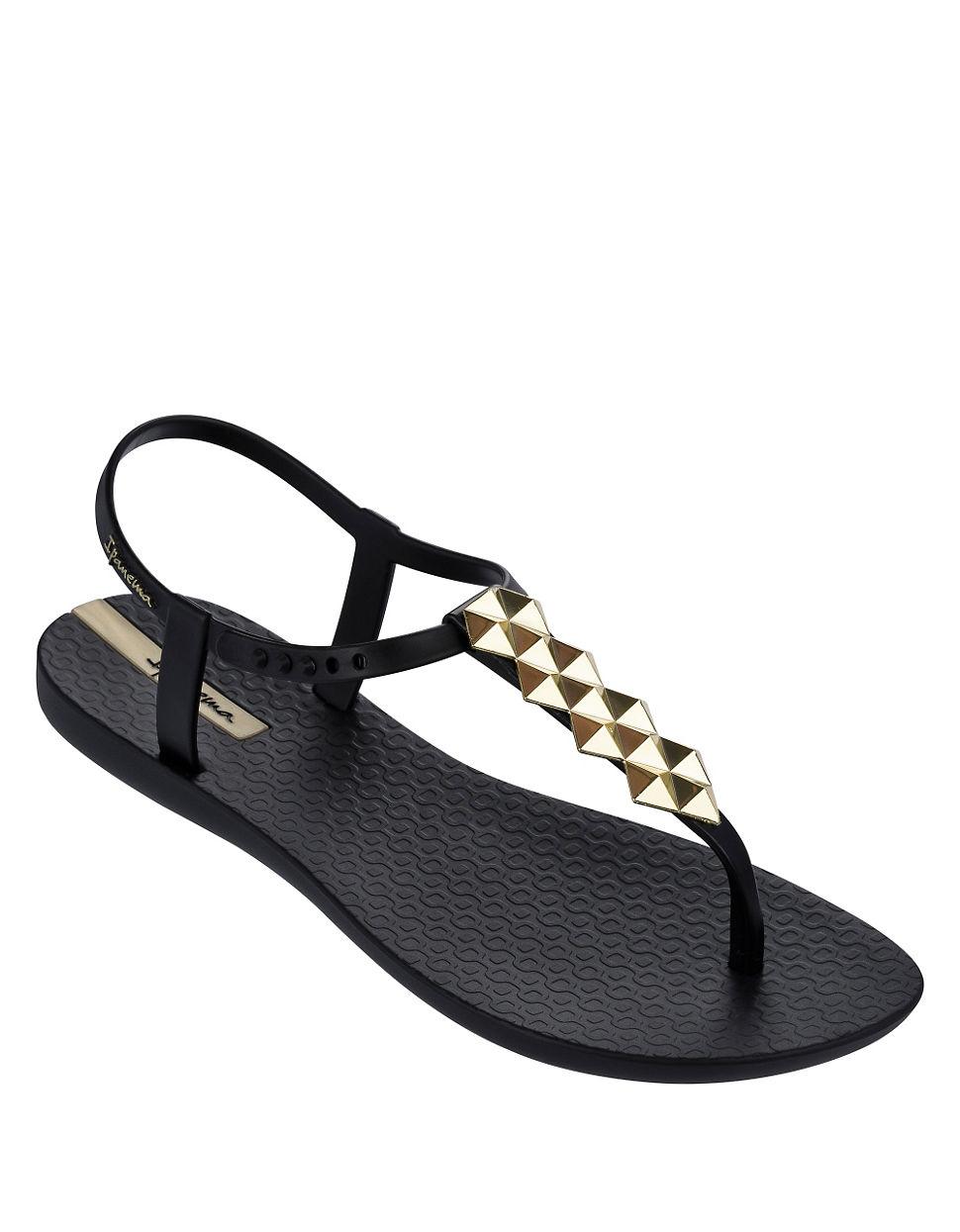 5cee87498a1 Ipanema Cleo Shine T-strap Sandals in Metallic - Lyst