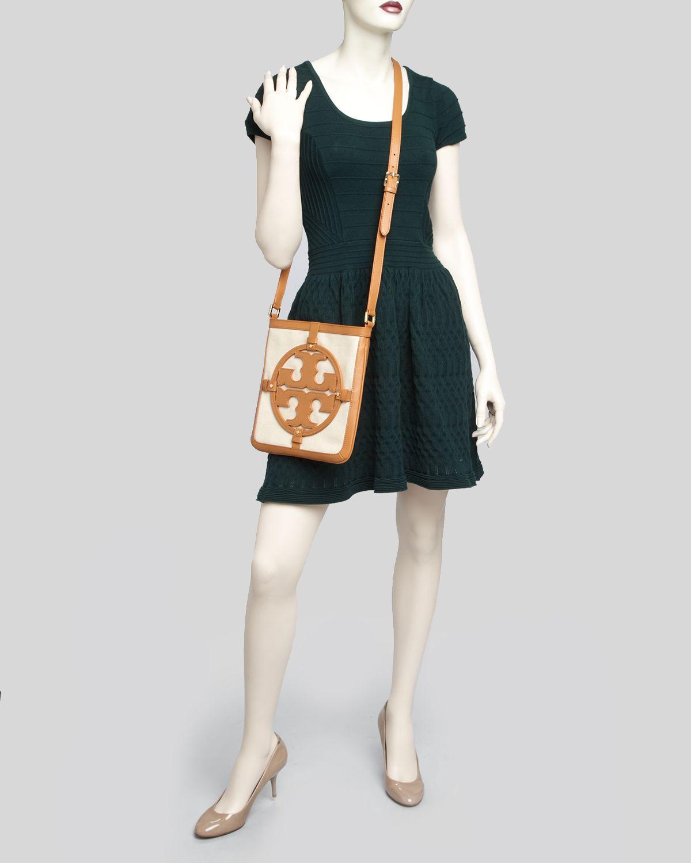 df30edd1c75 Lyst - Tory Burch Crossbody Holly Book Bag Messenger in White