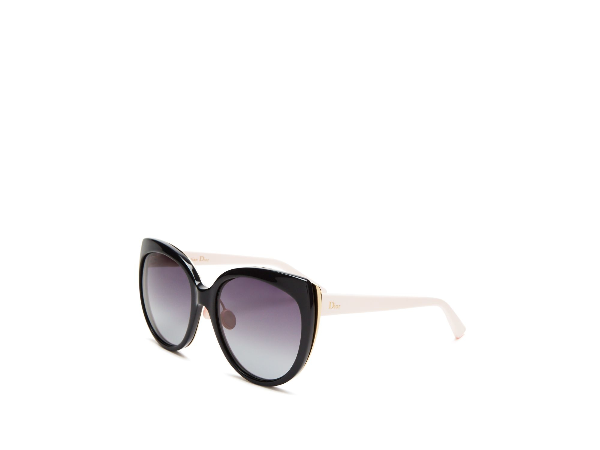 438bab8c65f05 Dior Cat Eye Sunglasses With Logo On Temple