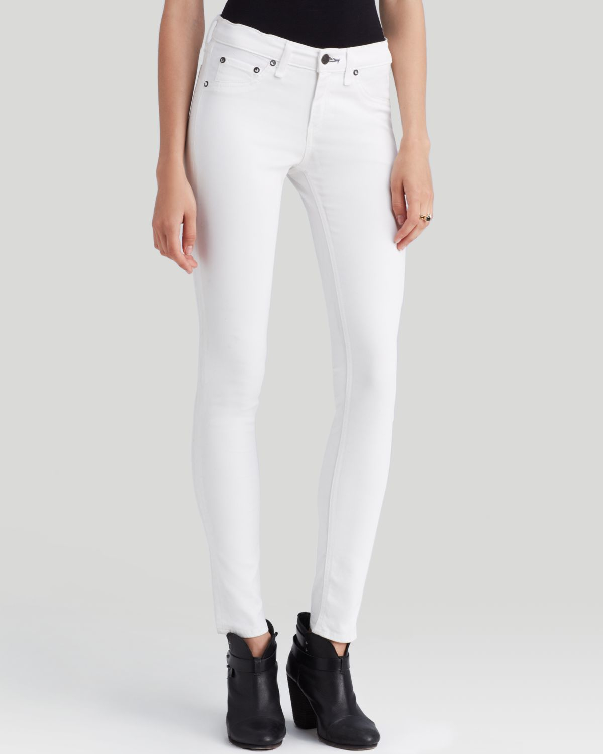 Rag & bone Jeans The Legging in Coated White in White | Lyst