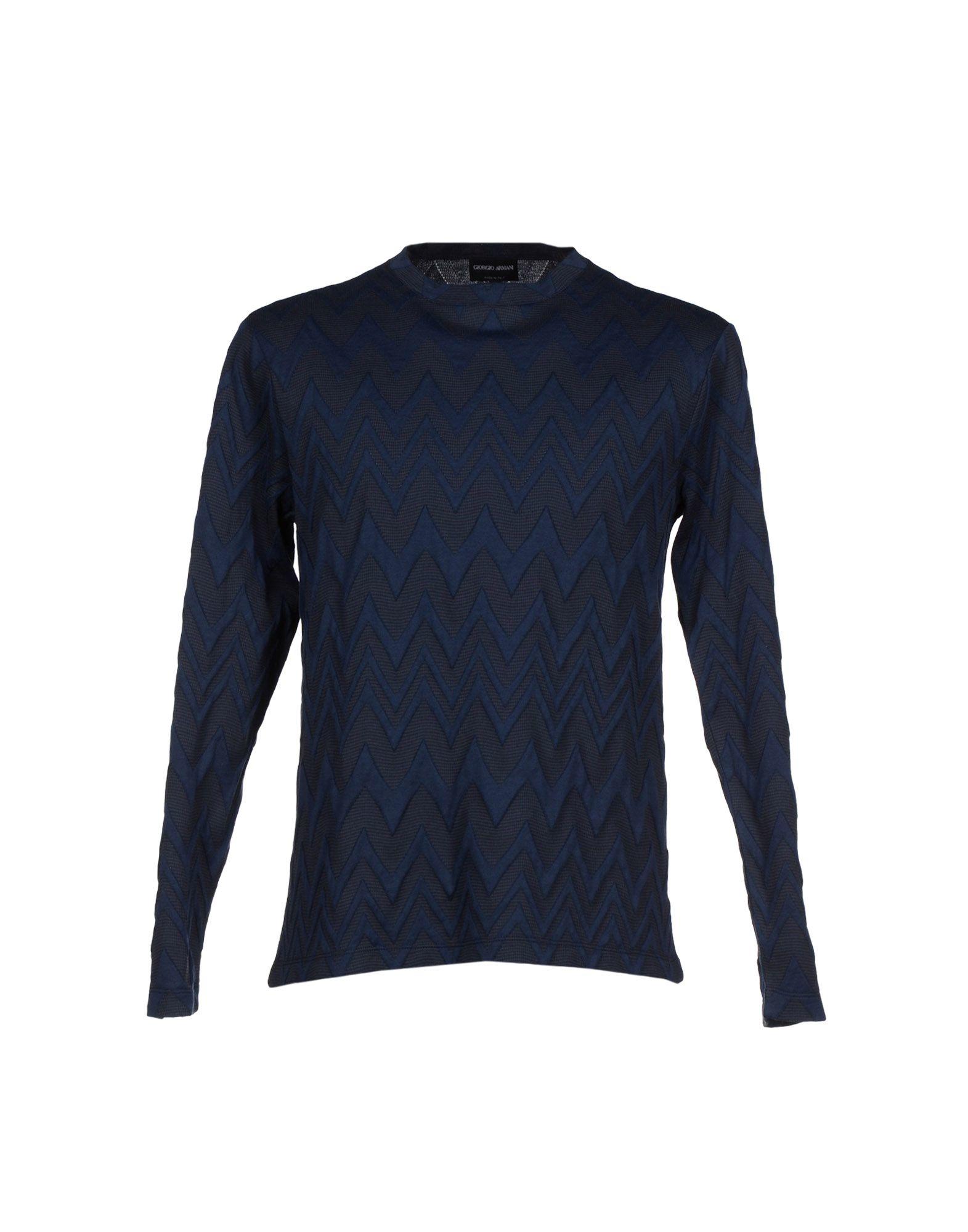 lyst giorgio armani tshirt in blue for men