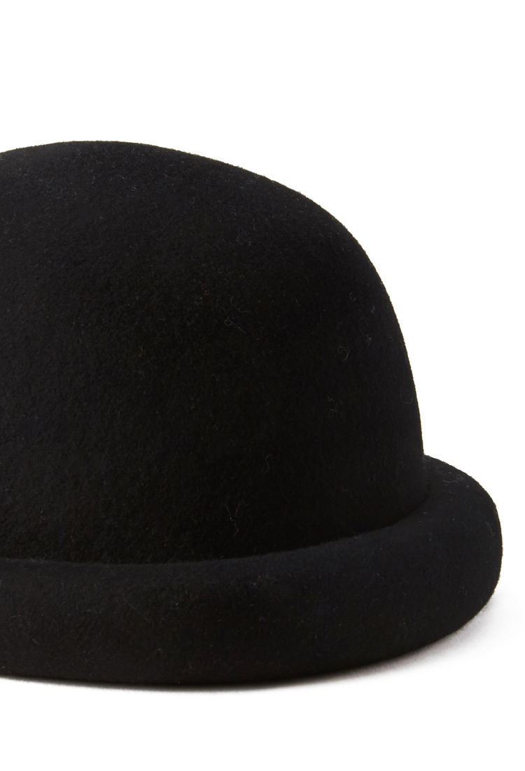 Forever 21 Wool Bowler Hat in Black - Lyst 2d0391ab776f