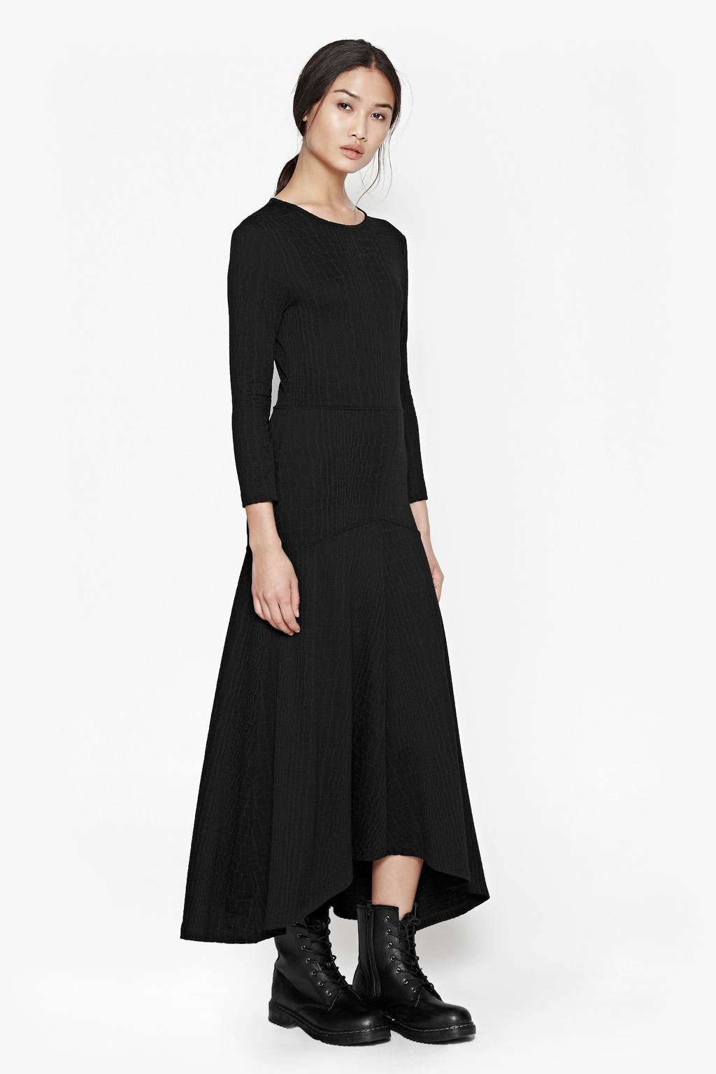 French connection Winter Snake Maxi Dress in Black - Lyst