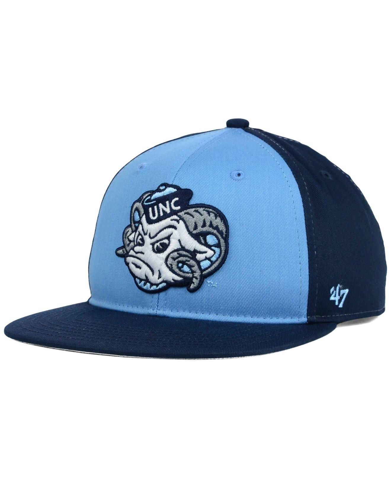 Lyst - 47 Brand Kids  North Carolina Tar Heels Snapback Cap in Blue 20431f02c4