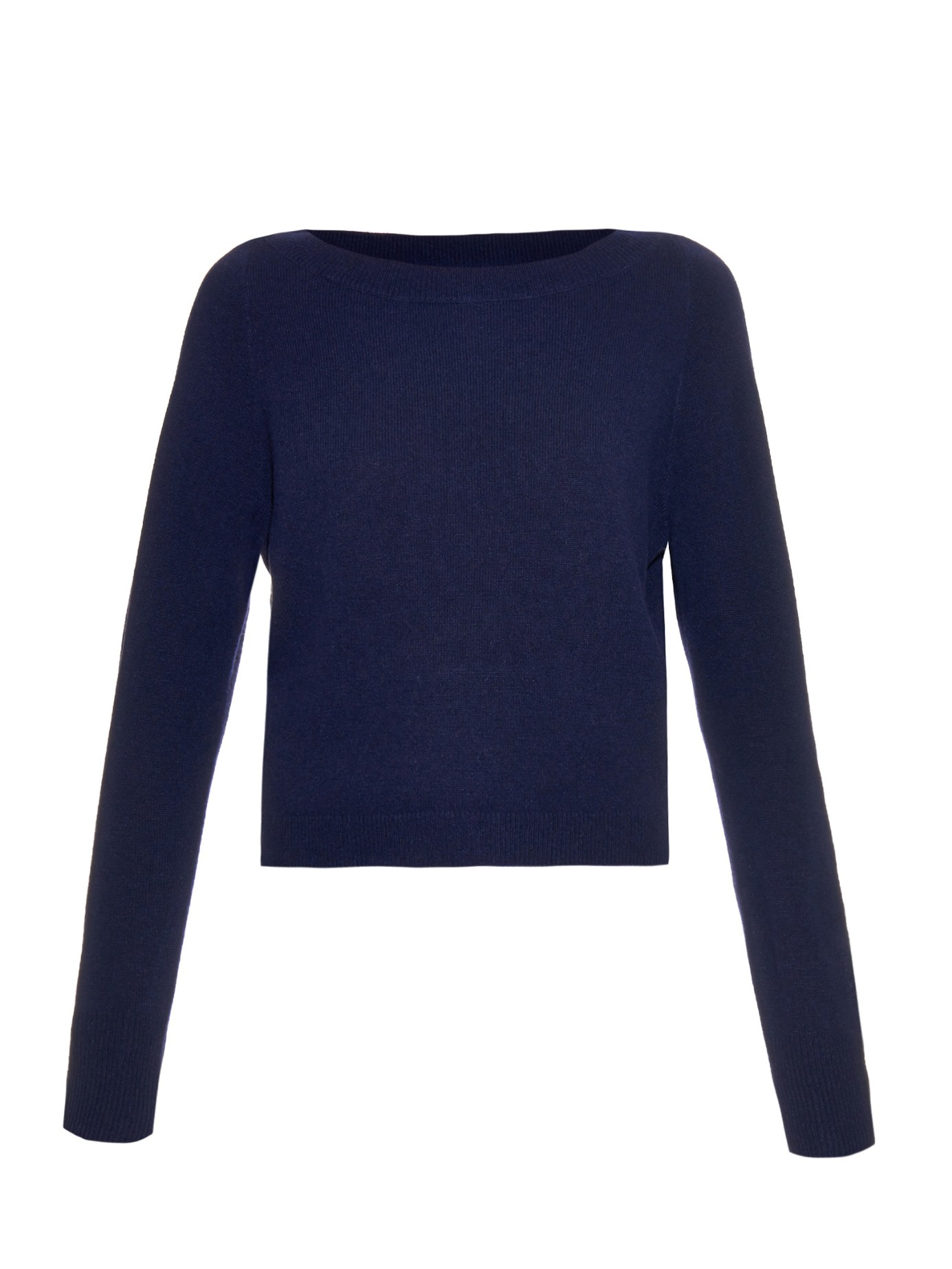 Osman Cashmere-knit Cropped Sweater in Blue | Lyst
