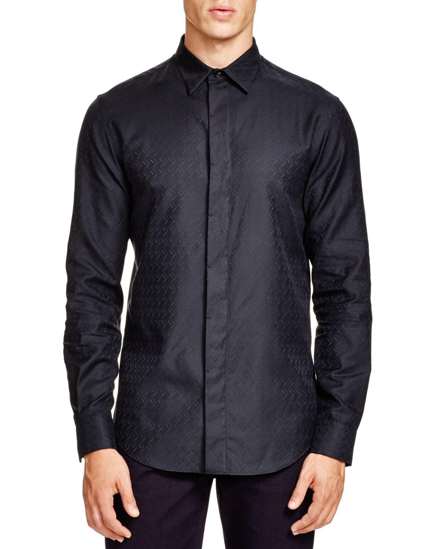 Lyst Armani Confetti Slim Fit Button Down Shirt For Men