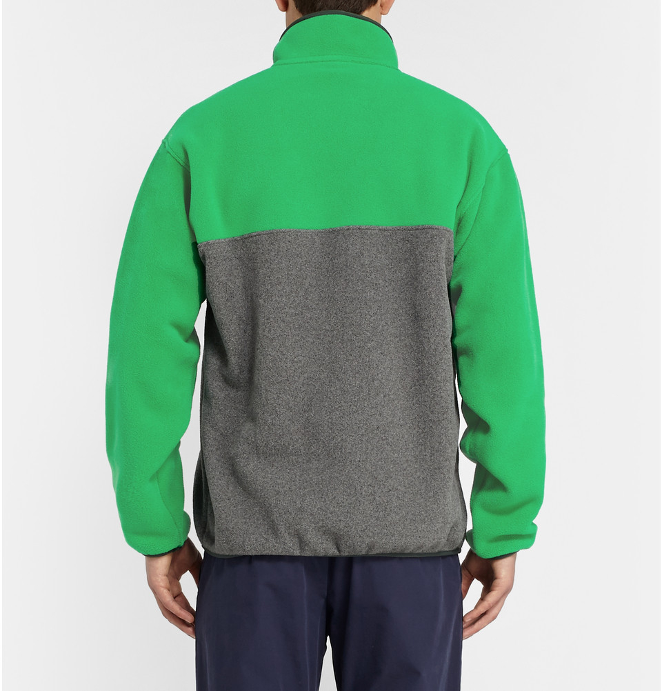 Patagonia Synchilla Lightweight Fleece Sweater in Green for Men | Lyst