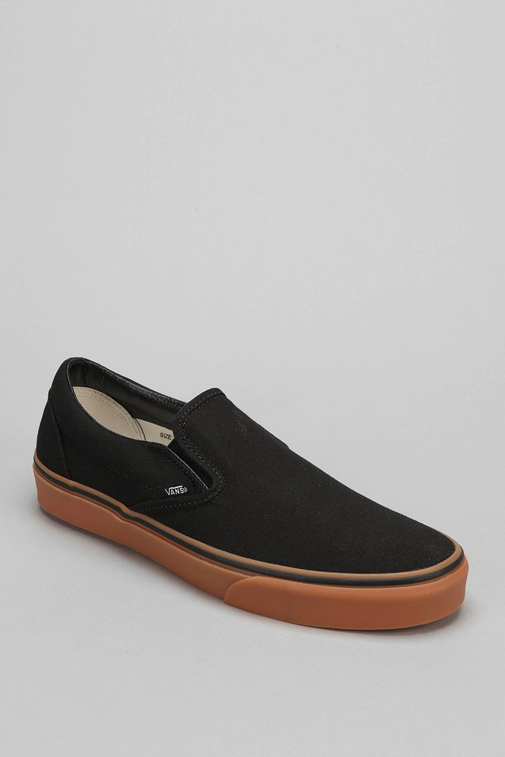 Lyst - Vans Classic Gum-Sole Slip-On Sneaker in Black for Men 9f1d555bb