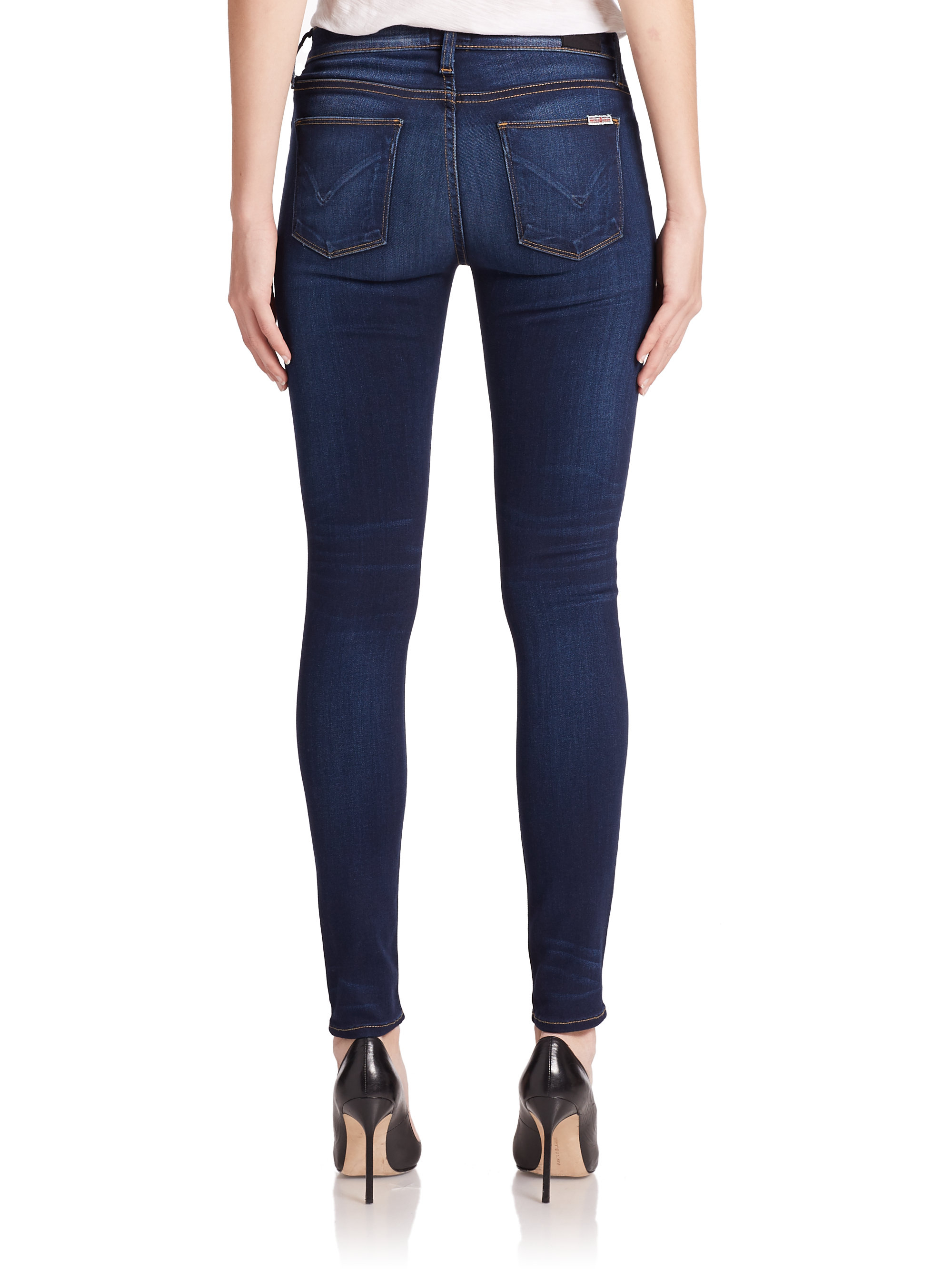 e79955c1dd6 Hudson Jeans Elysian Nico Mid-rise Super Skinny Jeans in Blue - Lyst