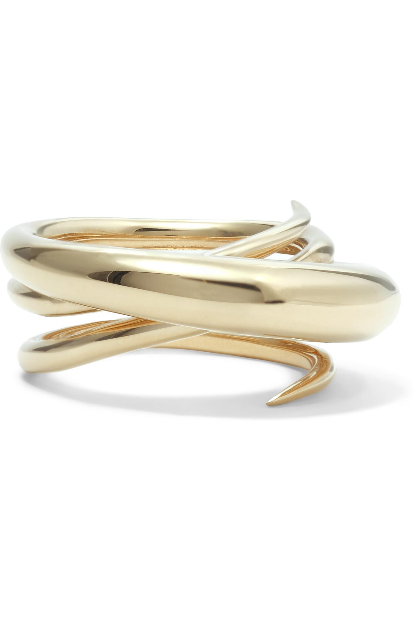 Gold Hurly Burly ring - Metallic Charlotte Chesnais tTM1j14LWT