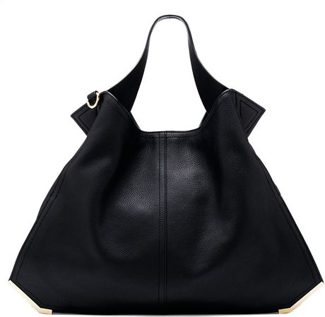Black Tote Bag Leather Tote Bag in Black
