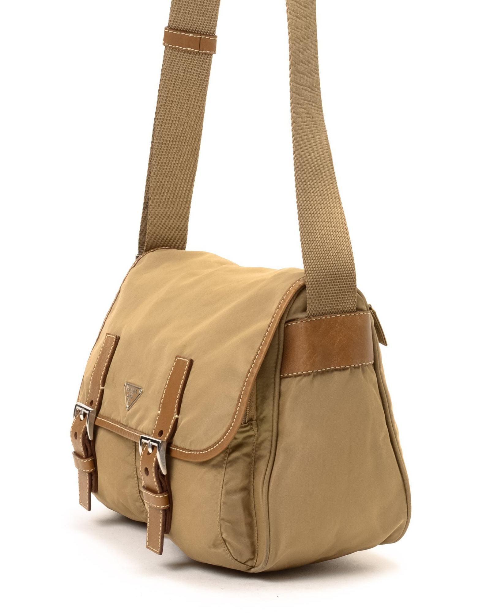 2b966c1ed3 Lyst - Prada Messenger Bag - Vintage in Natural