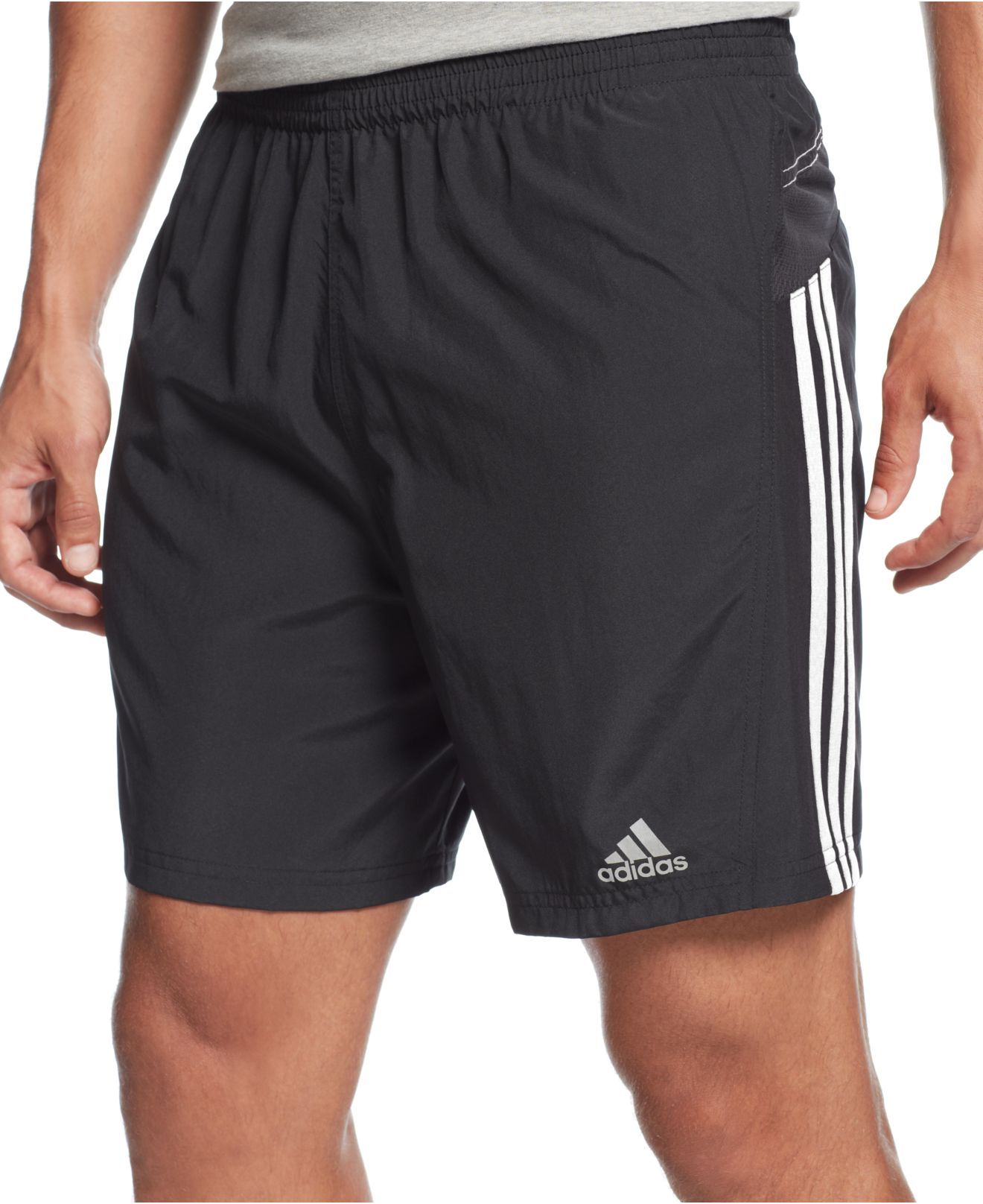 lyst adidas climalite 7 shorts in black for men. Black Bedroom Furniture Sets. Home Design Ideas