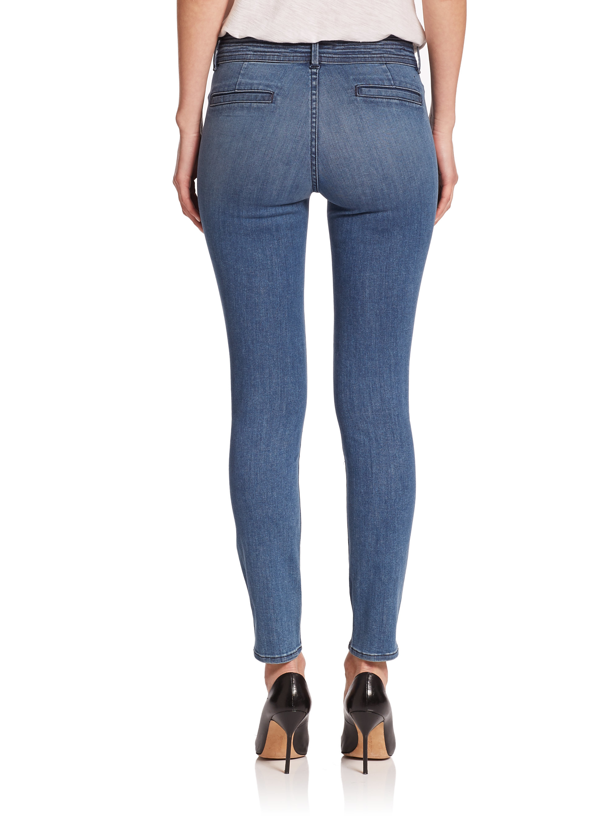 Frame Le Trouser Skinny Jeans in Blue | Lyst