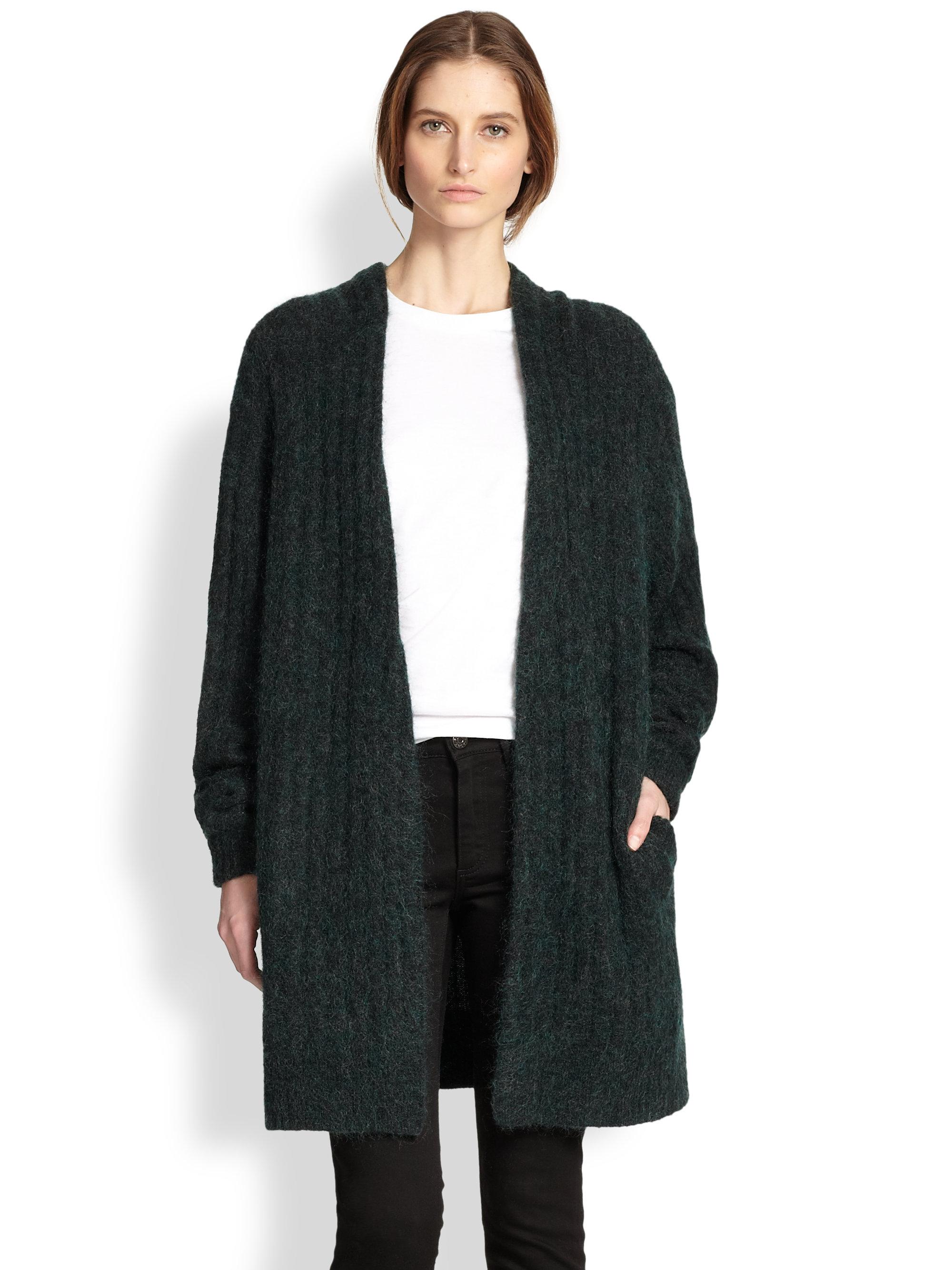 Acne studios Oversized Wool Cardigan in Black | Lyst