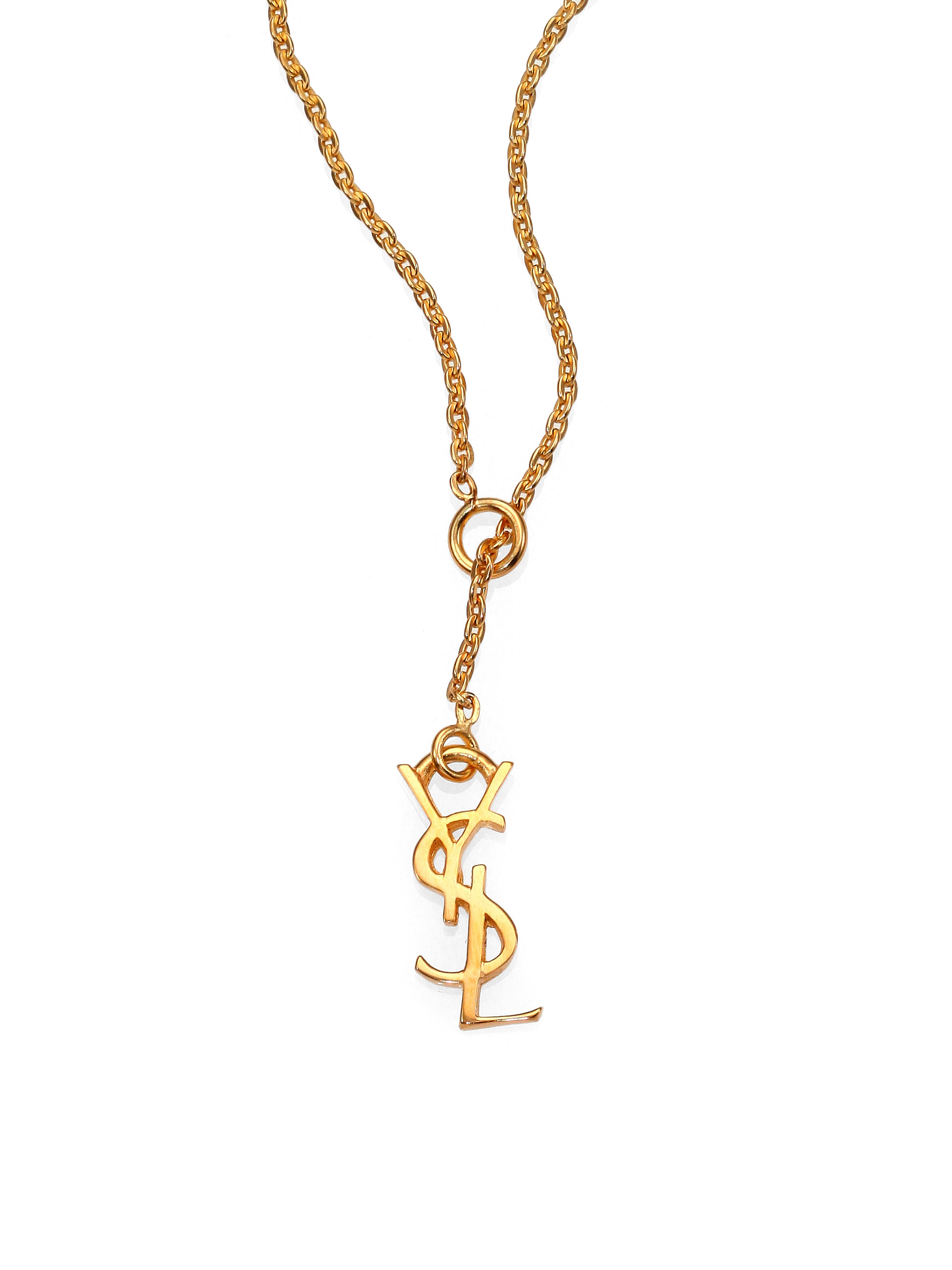Marrakech necklace - Metallic Saint Laurent LslmtcTqx