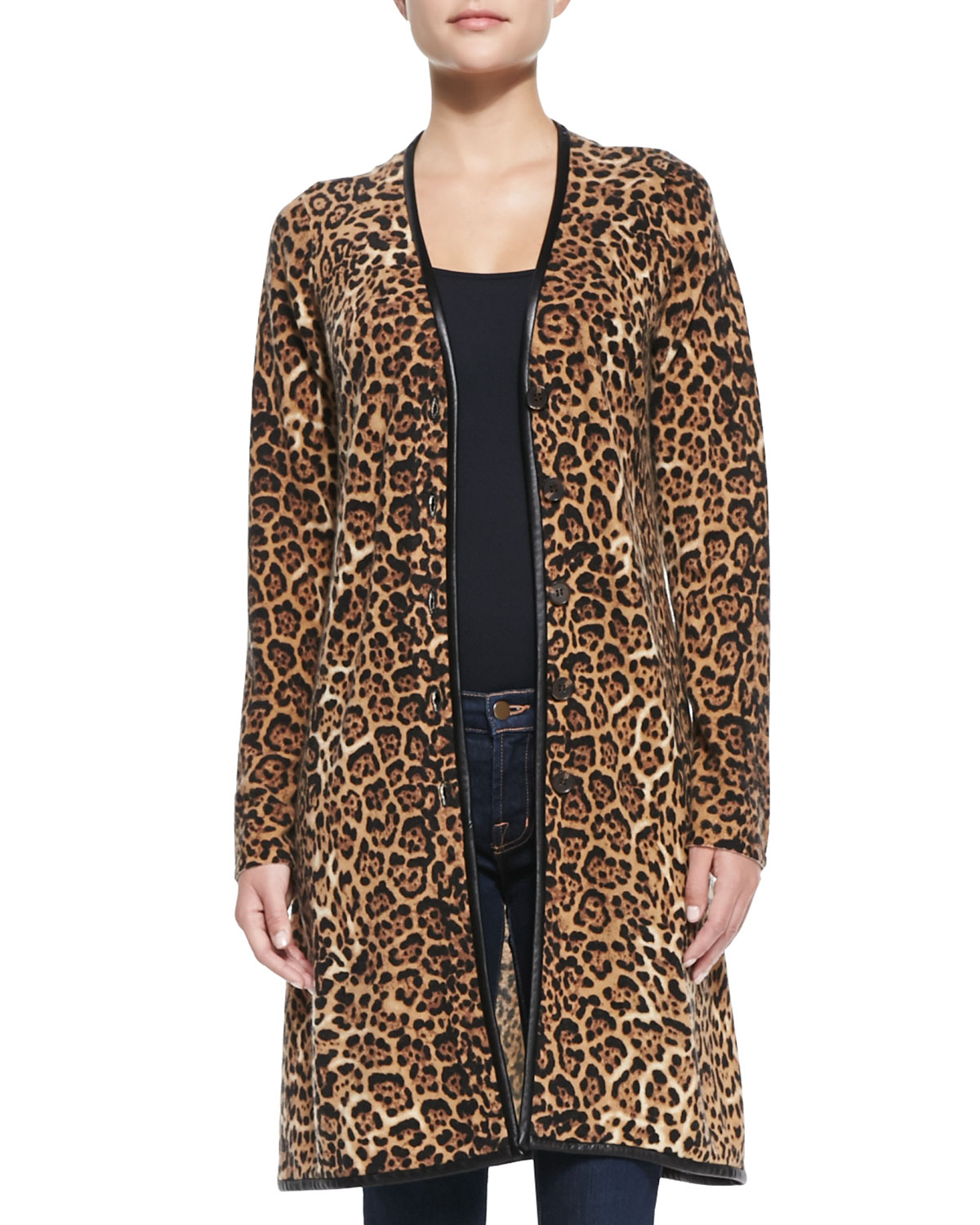 Kris Jenner Kollection 3/4 Sleeve Cheetah Print Cardigan 5 29 29 nice fit i really like what this cardigan does to a woman body it is slenderising but the only issue that i had was it had more of a muted color instead of a pop of color. but design level is how i like my prints unexpected/5(29).