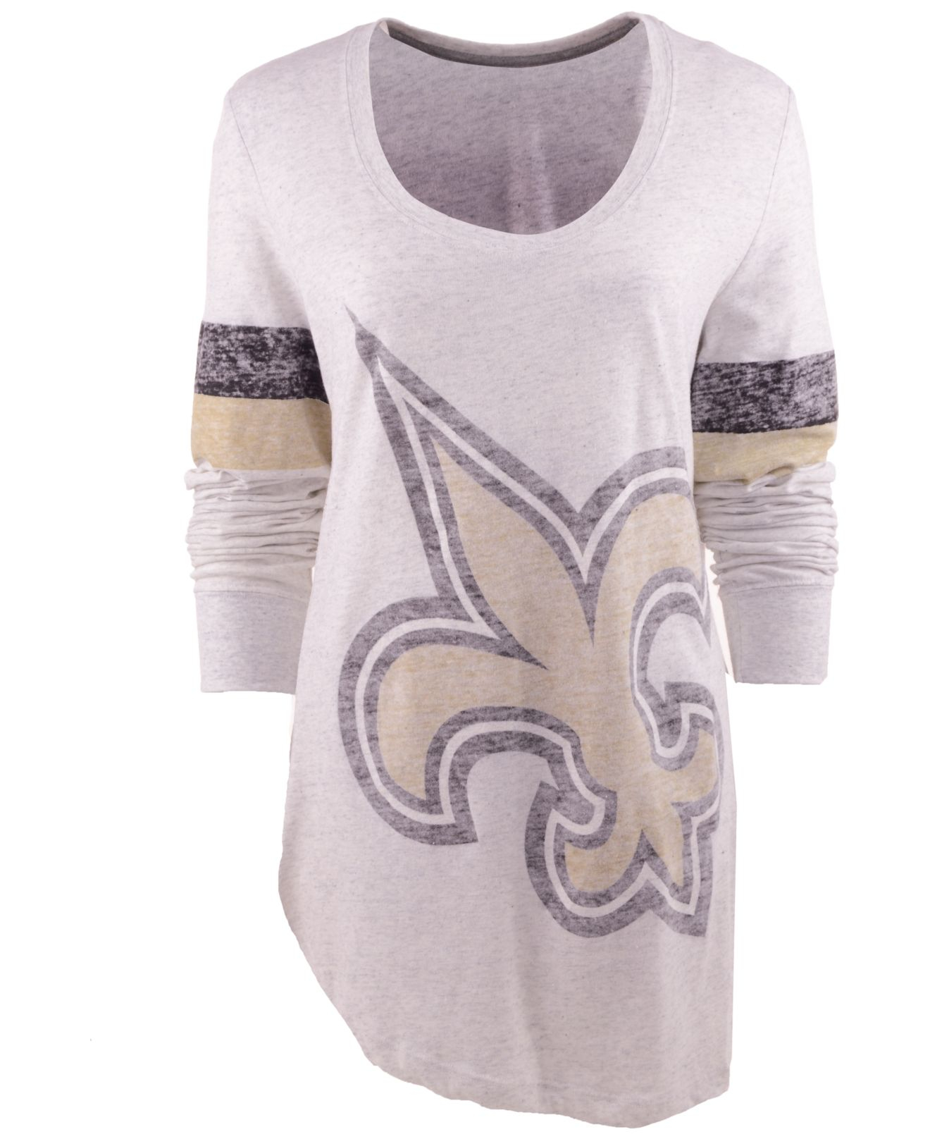 2e8fd398 Nike Women's Long-sleeve New Orleans Saints T-shirt in White - Lyst