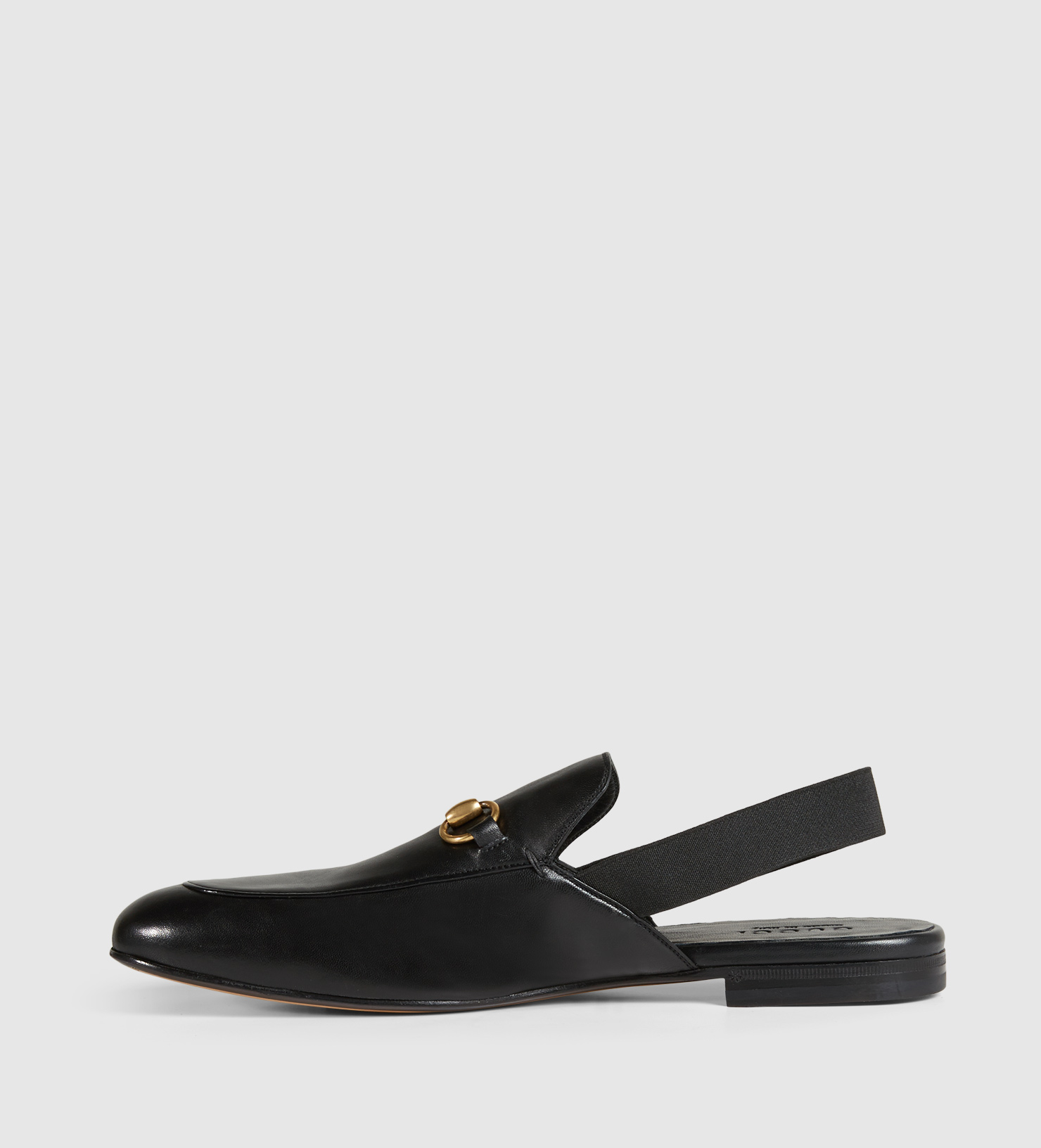 7aa8740e047 Lyst - Gucci Leather Horsebit Slingback in Black for Men