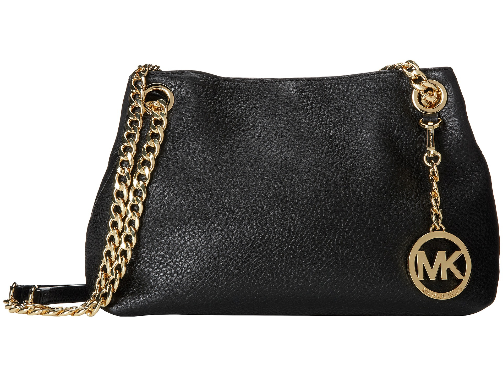d8d28578b2b3a7 MICHAEL Michael Kors Jet Set Chain Item Medium Messenger in Black - Lyst