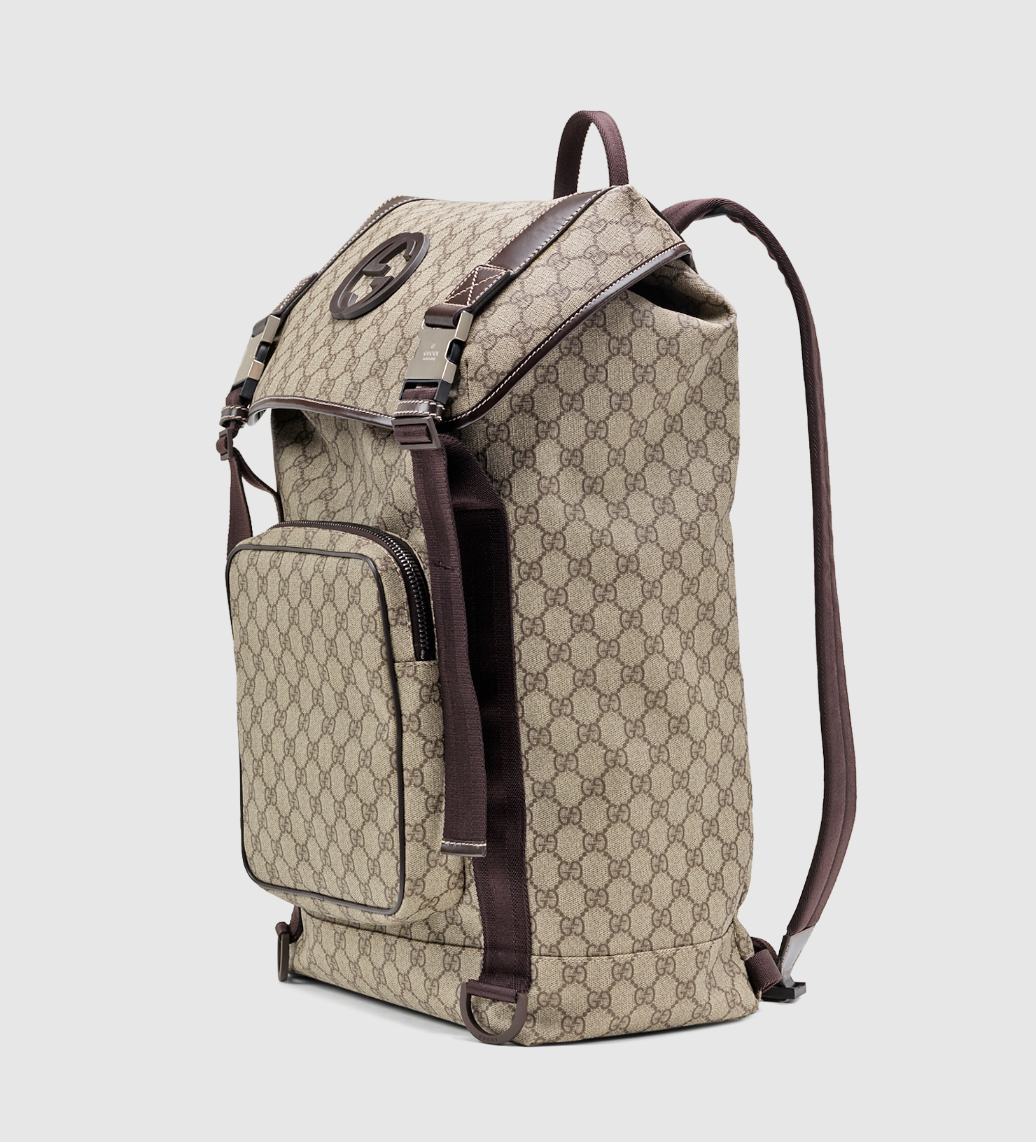 afaba1792dd Lyst - Gucci Gg Supreme Canvas Interlocking G Backpack in Natural ...