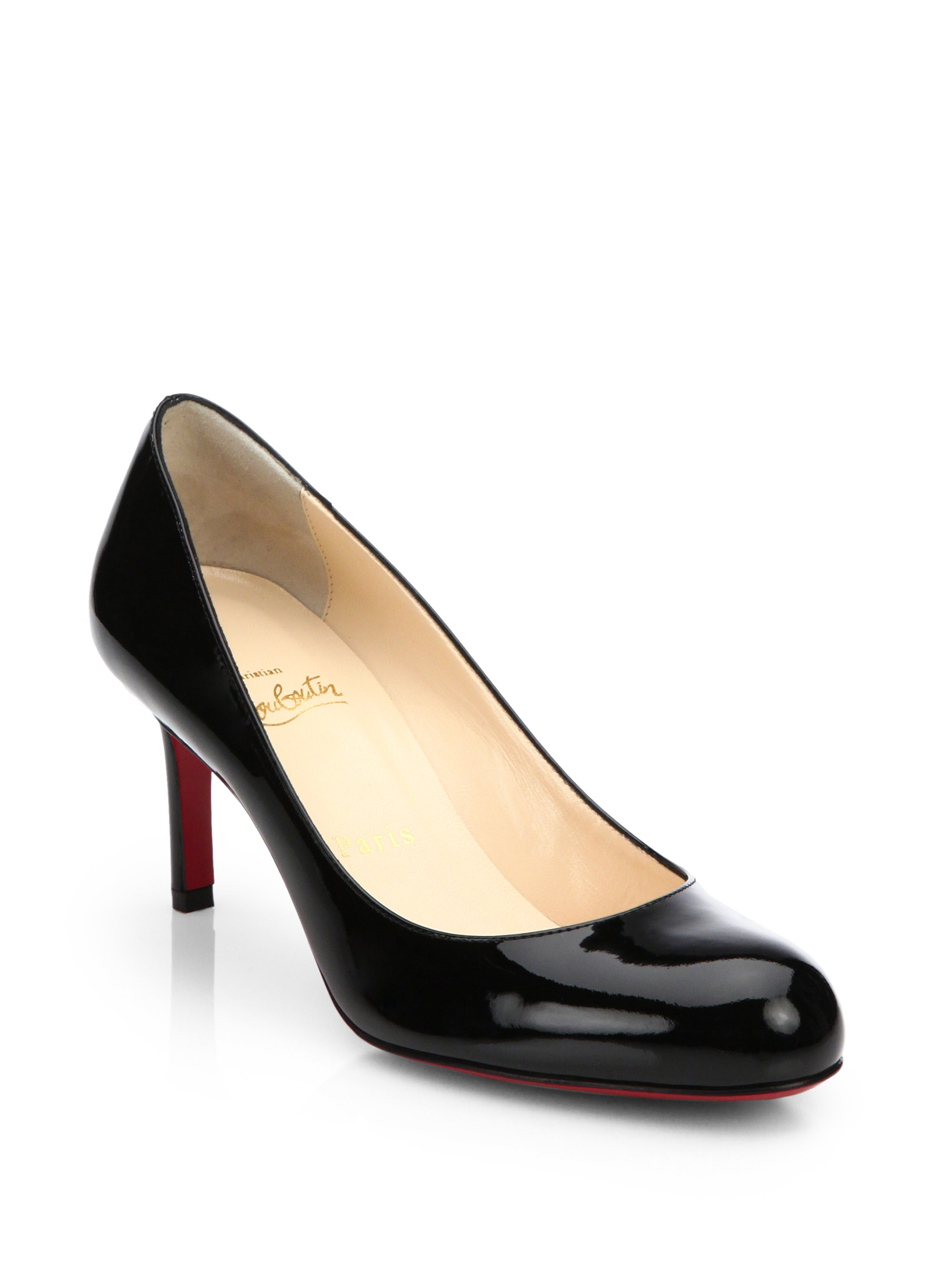 christian louboutin men's - Christian louboutin Simple Patent Leather Pumps in Black | Lyst