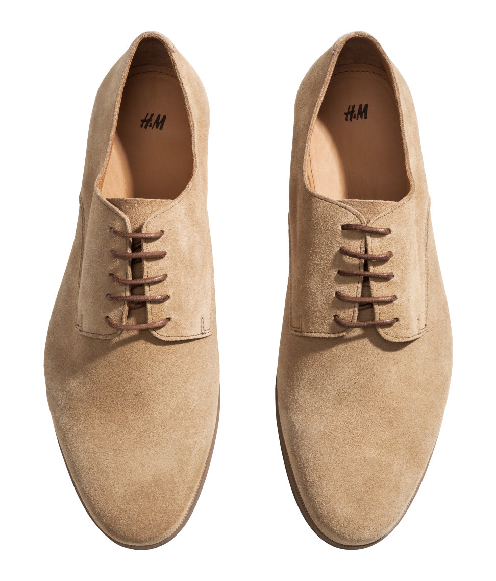 Men Beige Derby Shoes