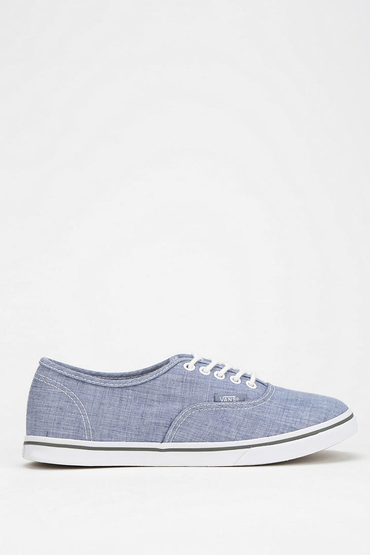 Lyst - Vans Authentic Lo Pro Chambray Womens Lowtop Sneaker in Blue 655bf68b93