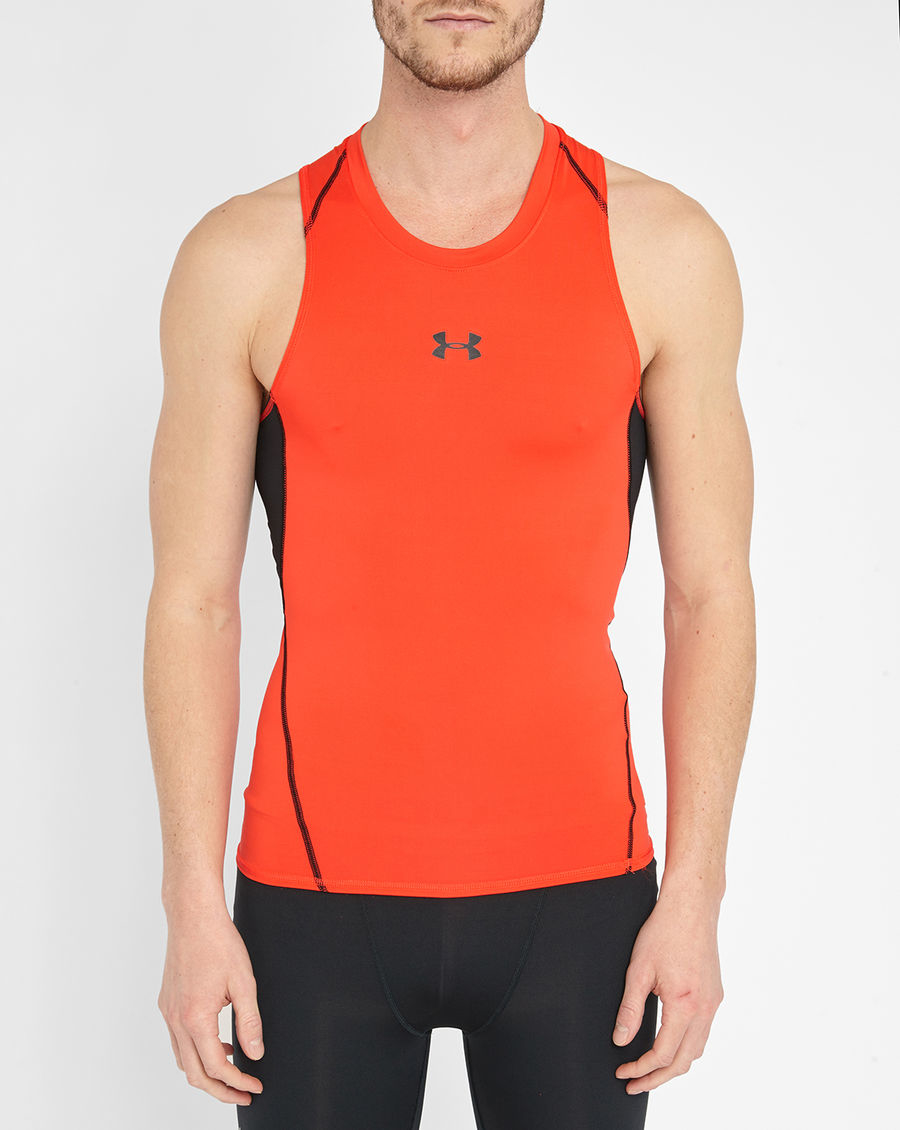 under armour red heatgear compression tank top in red for. Black Bedroom Furniture Sets. Home Design Ideas