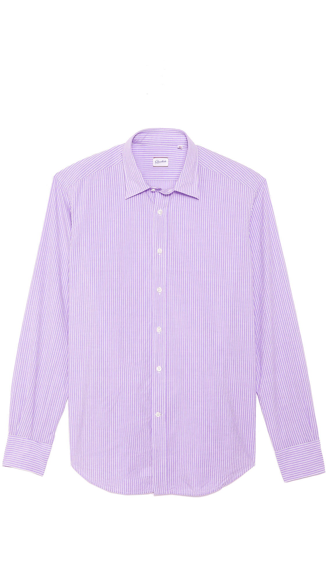 Glanshirt kent striped shirt in purple for men lyst for Purple and black striped t shirt