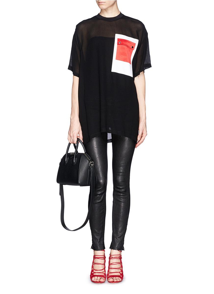 Goat leather work gloves - Givenchy Antigona Mini Leather Shoulder Bag In Black Lyst