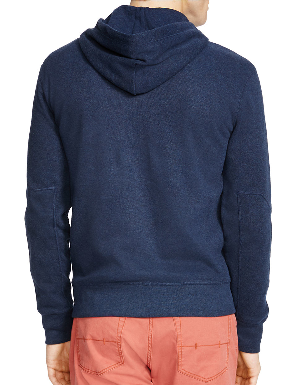 Polo ralph lauren French-rib Full-zip Hoodie in Blue for Men | Lyst