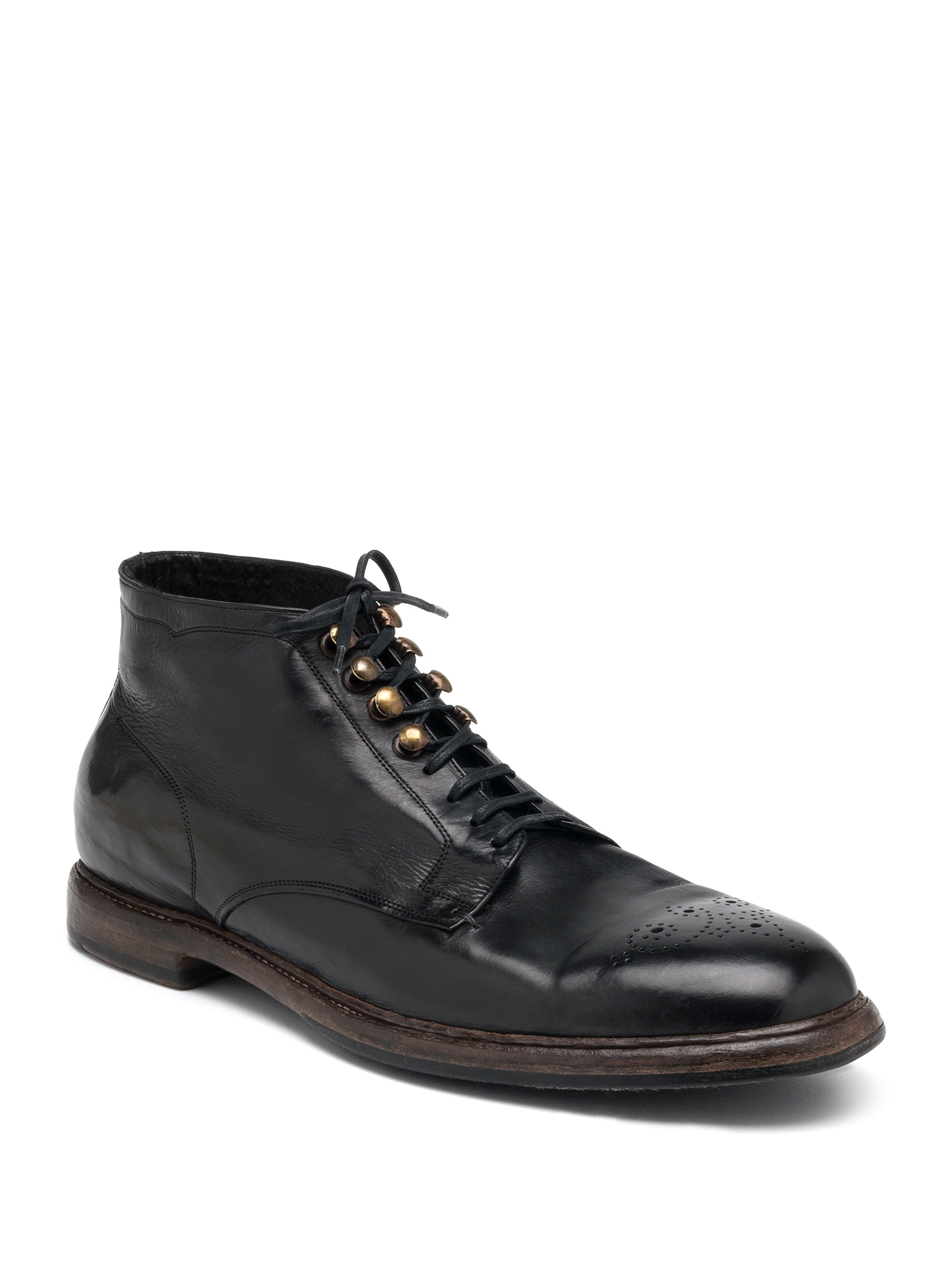 dolce gabbana leather chukka boots in black for lyst