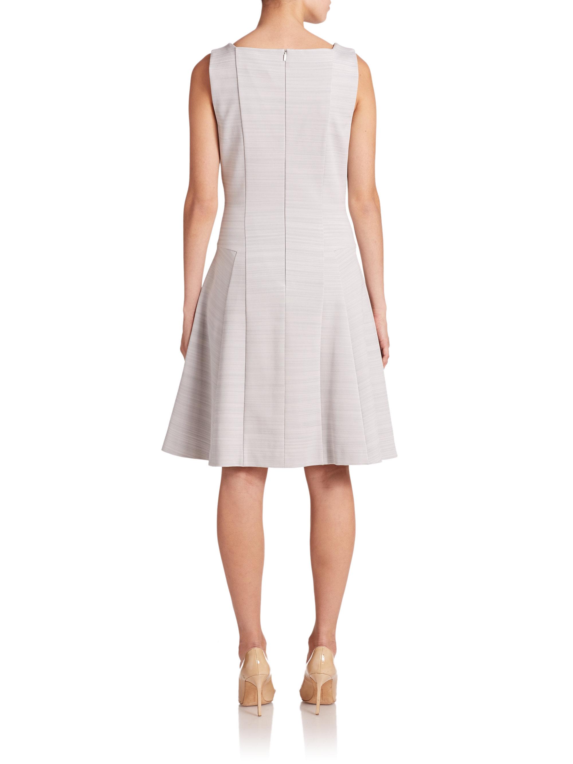 5308eecc1f7 Lyst - BOSS Hirene Dress in Gray
