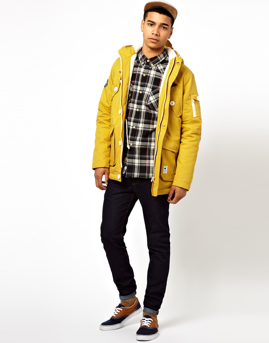 Bellfield Heavy Wadded Parka in Orange for Men | Lyst