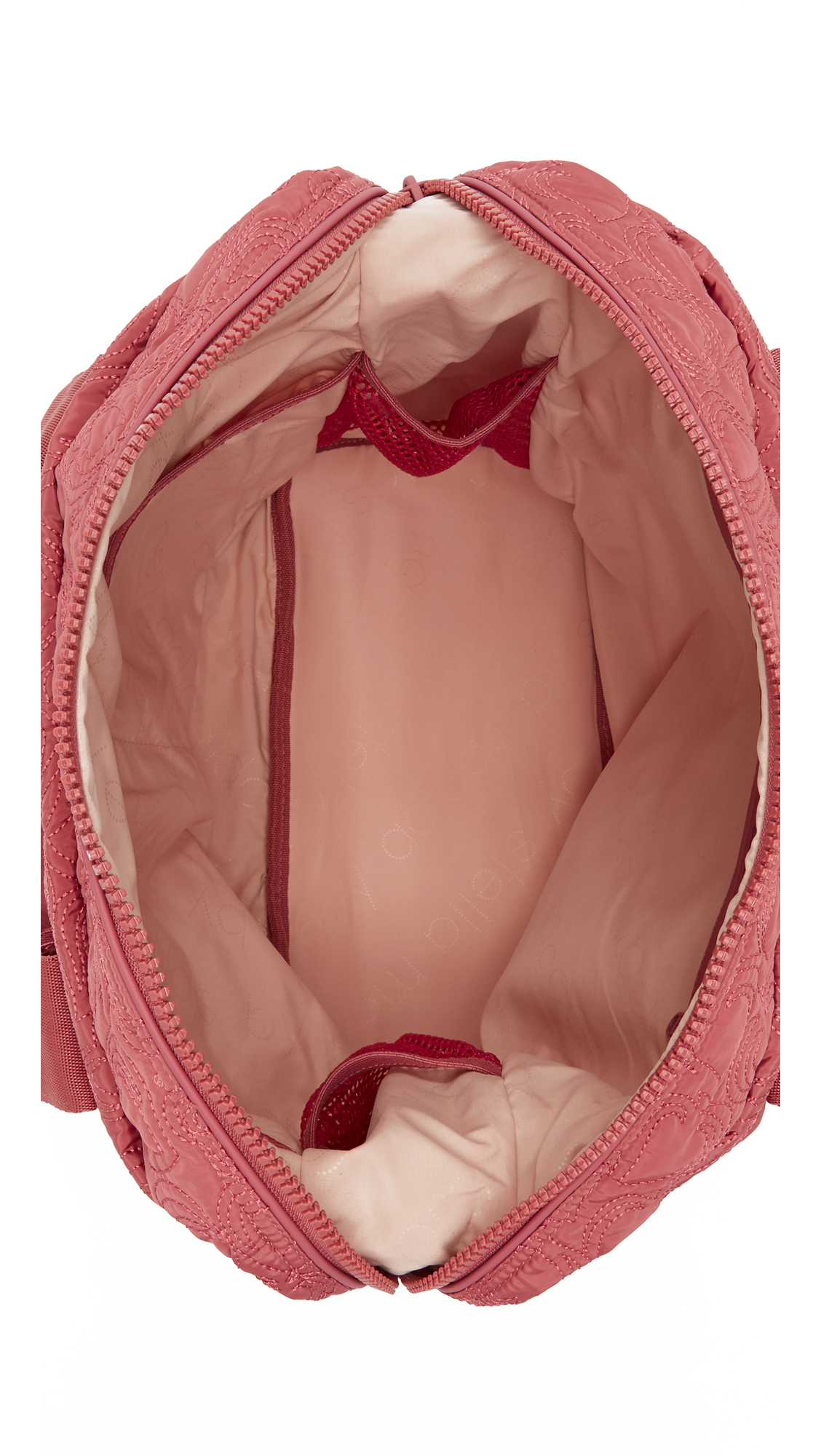 ... Quilted huge  Lyst - Adidas By Stella Mccartney Small Gym Bag in Red  detailed look 38f8e c644b ... 55029d4726