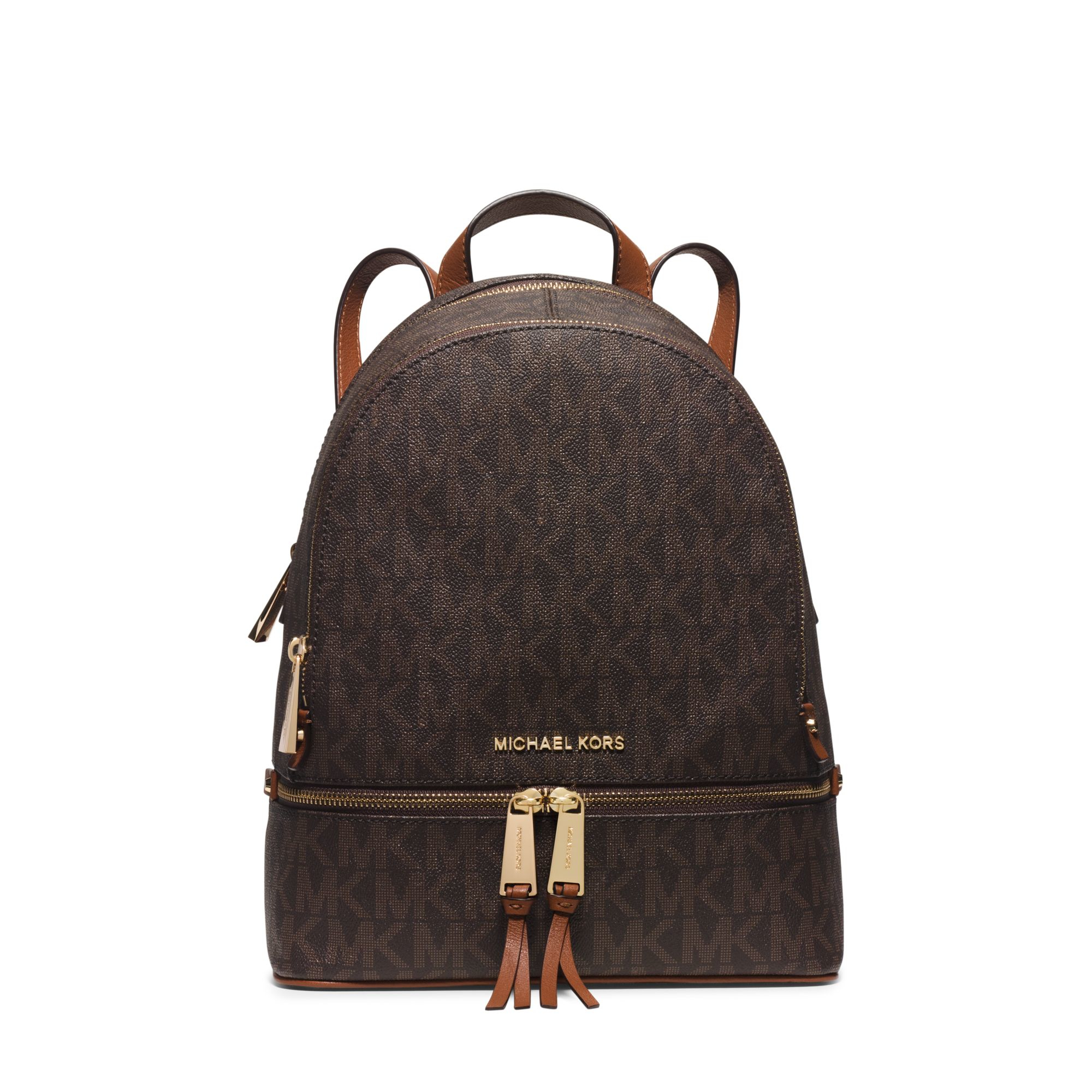 michael kors rhea small backpack in brown lyst. Black Bedroom Furniture Sets. Home Design Ideas