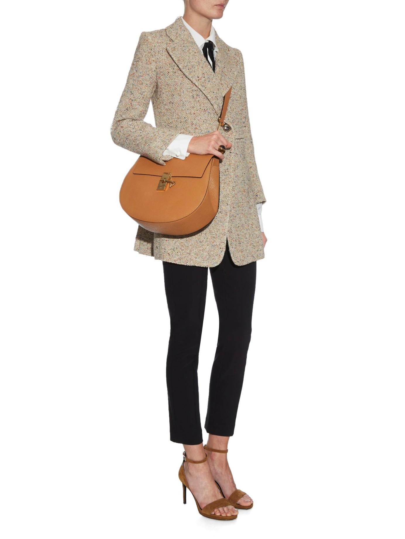Chlo¨¦ Drew Medium Shoulder Bag in Brown (TAN)   Lyst