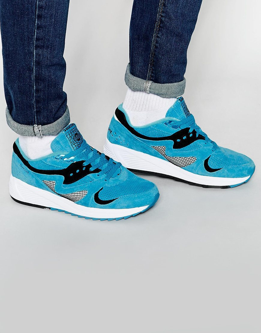 c99658817e01 Lyst - Saucony Grid 8000 Trainers In Blue S70223-2 - Blue in Blue ...