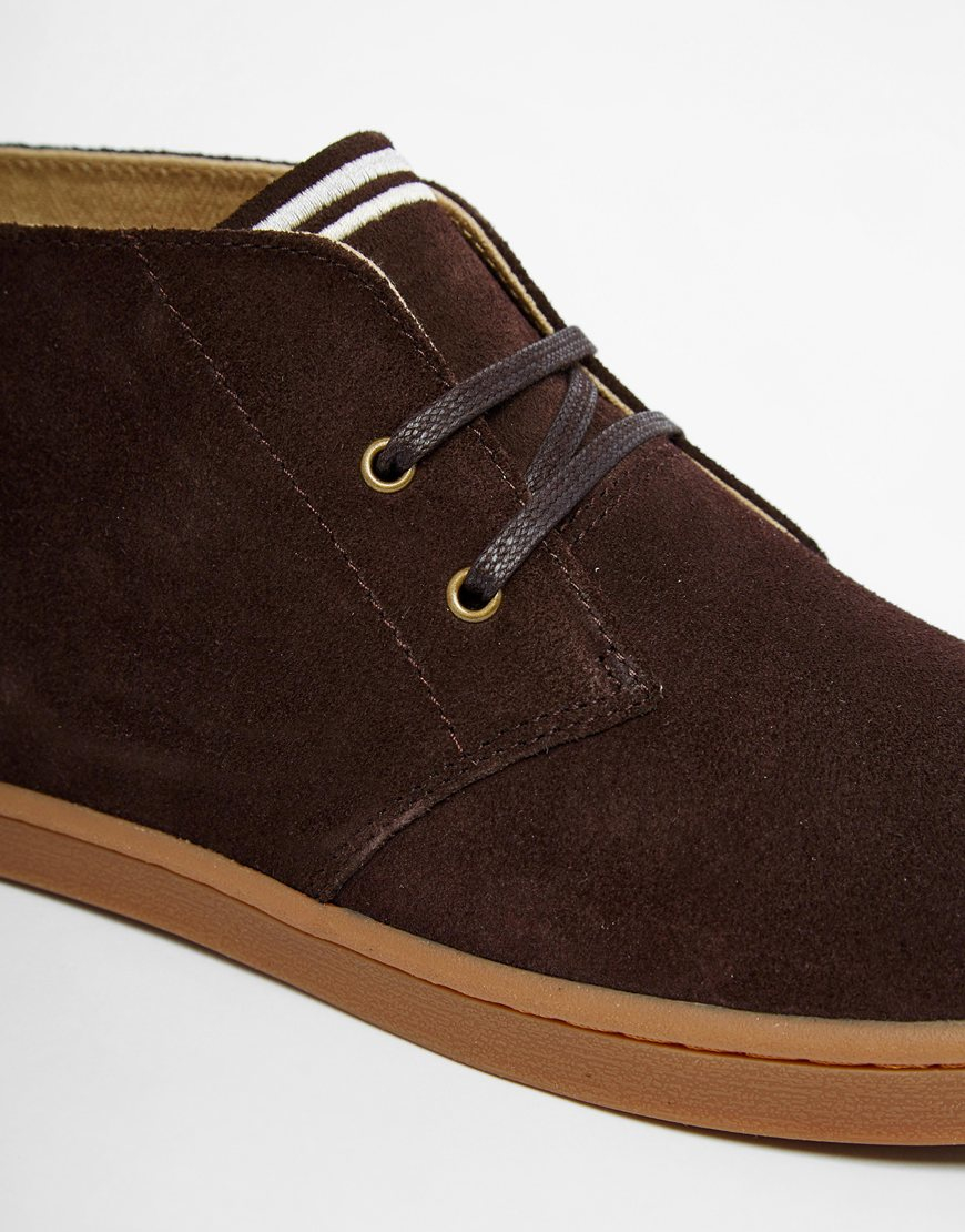 d70f4306b34 Lyst - Fred Perry Byron Mid Suede Chukka Boots in Brown for Men