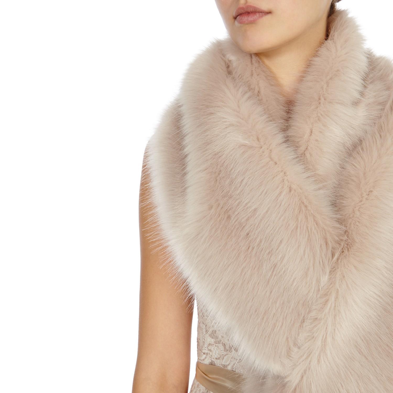 f911370a3 Coast Luella Faux Fur Scarf in Natural - Lyst
