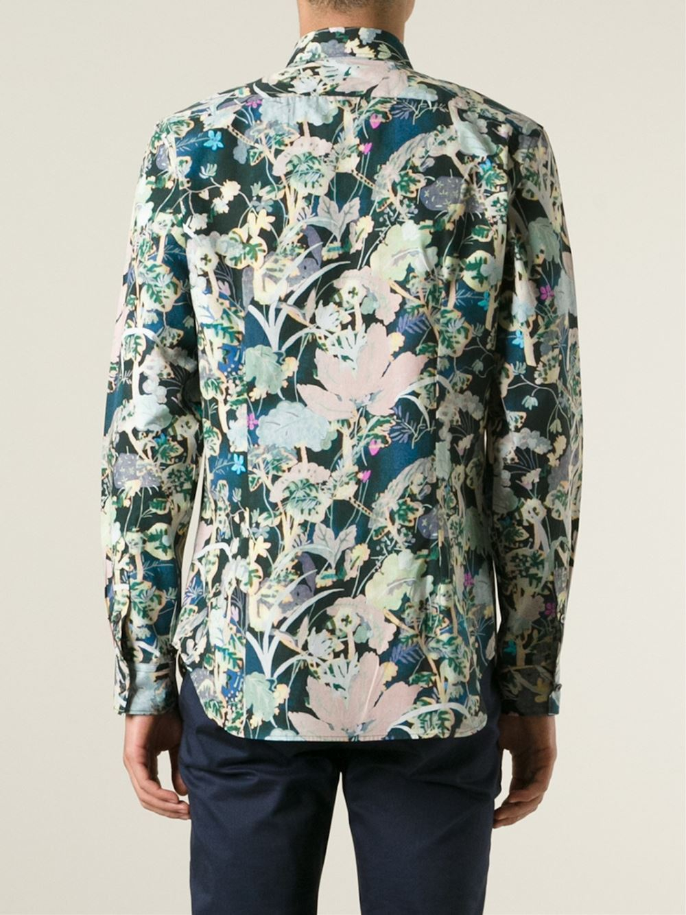 paul smith floral print shirt in floral for men lyst