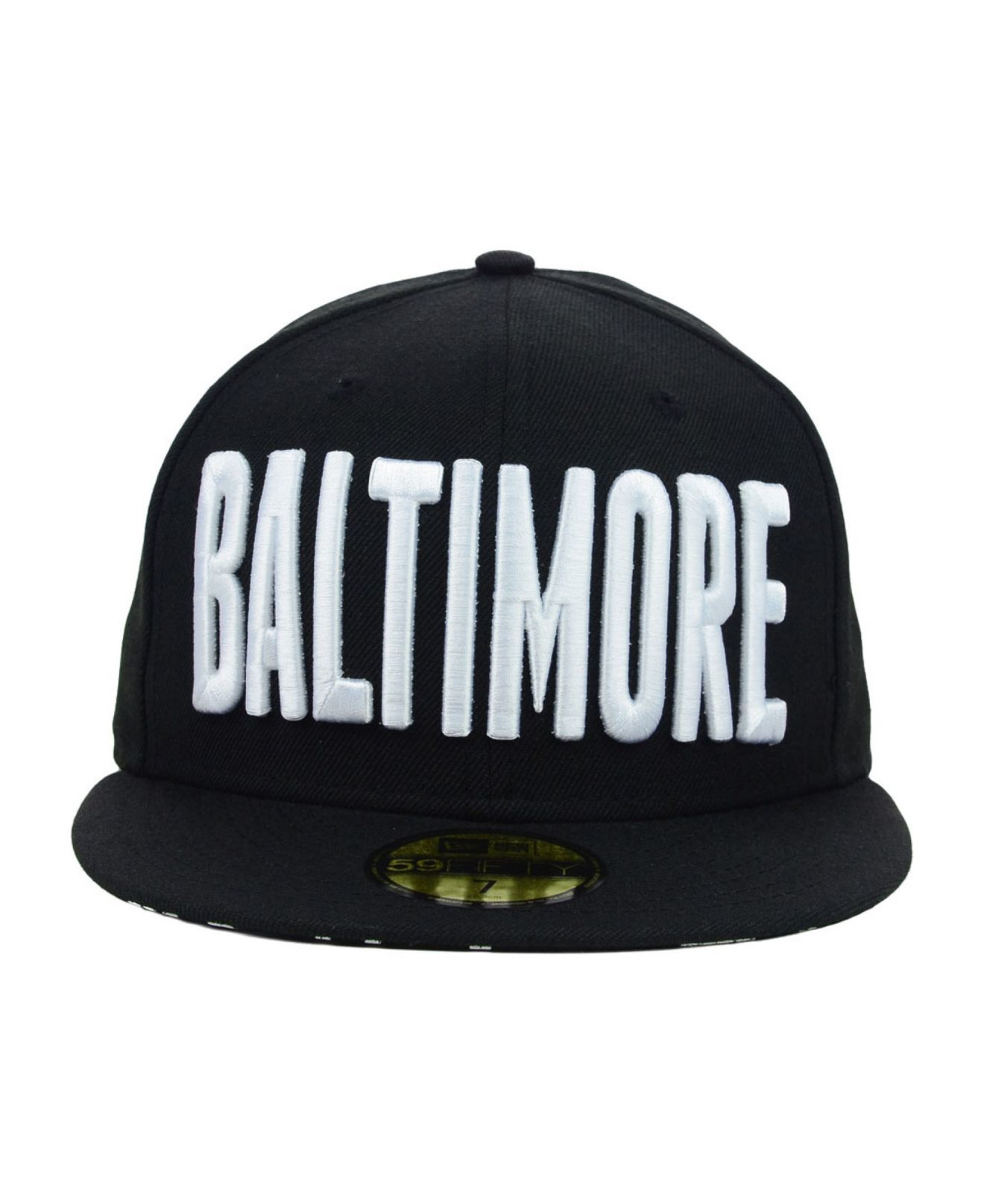 the best attitude f26a7 48a8c ... usa lyst ktz baltimore orioles mlb big gps 59fifty cap in black for men  2ac8b 8d911