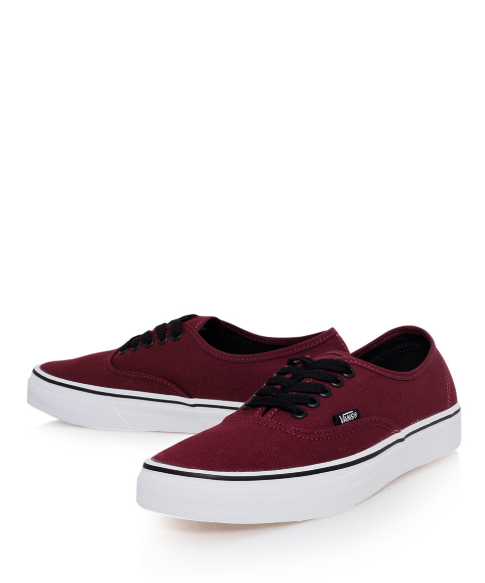 0f76174dbf0 Lyst - Vans Burgundy Authentic Classic Contrast Canvas Skate Shoes in  Purple for Men